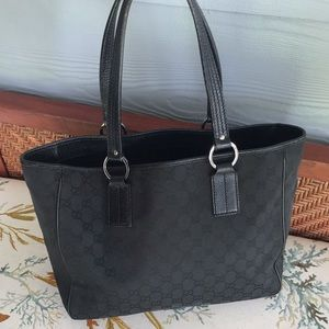 Gucci Black Open Handbag